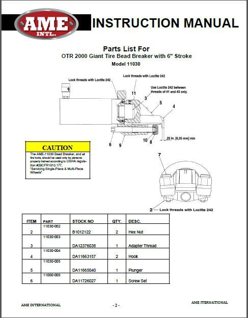 11030 PARTS BREAKDOWN PDF