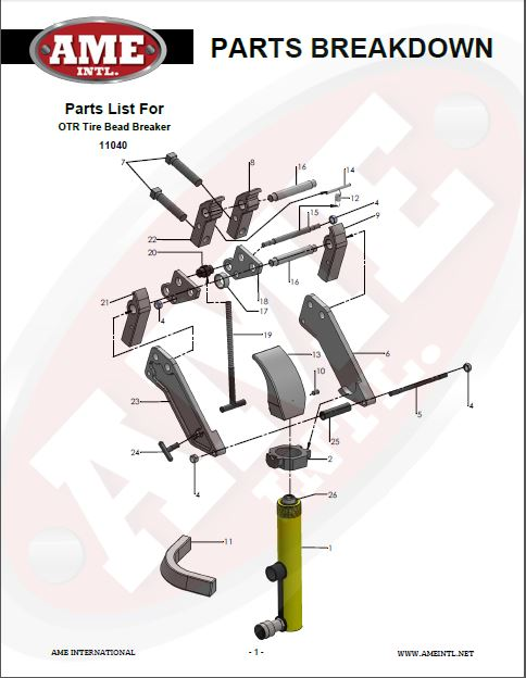 11040 PARTS BREAKDOWN PDF
