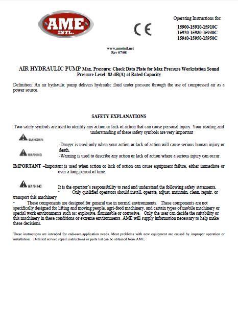 15920 INSTRUCTION MANUAL PDF