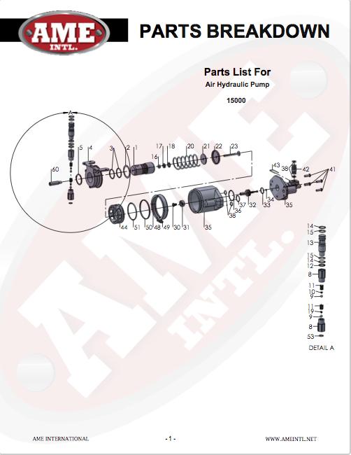 MODEL #15000 - PARTS BREAKDOWN PDF