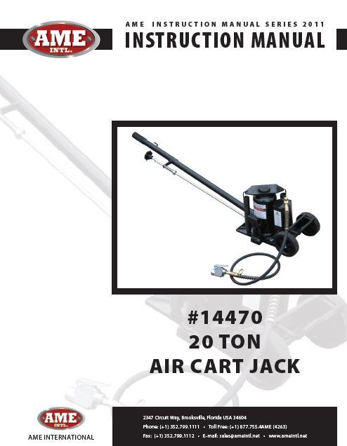 AME 14470 Air Cart Jack 20 Ton Capacity
