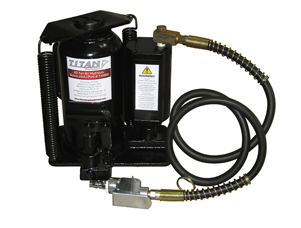 Image for TITAN 30 TON AIR/HYDRAULIC BOTTLE JACK