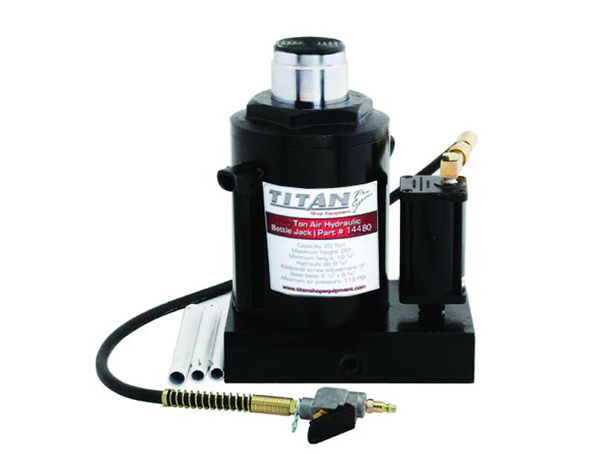 Gallery Picture 1 for TITAN 50 TON AIR/HYDRAULIC BOTTLE JACK