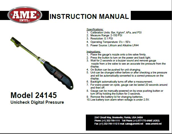 24145 INSTRUCTION MANUAL PDF