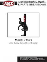 #71600 - Instruction Manual & Parts Breakdown PDF