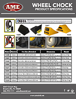 WHEEL CHOCK PRODUCT SPECIFICATIONS PDF