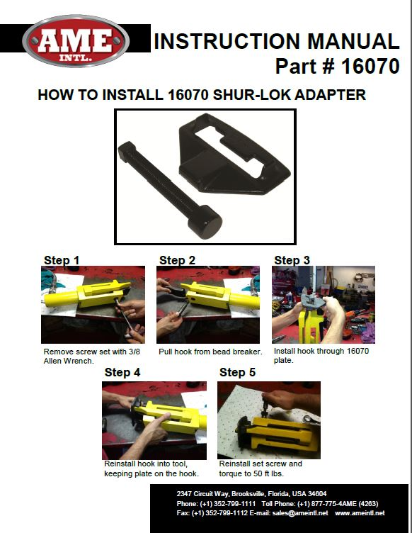 16070 INSTRUCTION MANUAL PDF