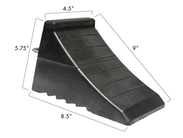 Image for RUBBER WHEEL CHOCK, BLACK