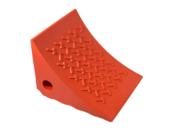 Gallery Picture 1 for URETHANE WHEEL CHOCK, ORANGE
