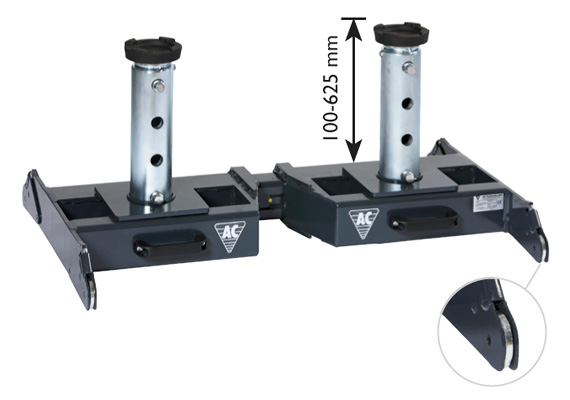 Gallery Picture 1 for AC HYDRAULIC TELESCOPIC SUPPORT BRIDGE FOR HEAVY DUTY JACKING BEAMS/PIT JACKS