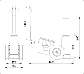 Image for AC HYDRAULIC HEAVY DUTY JACK, 100 TON