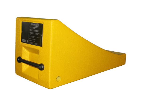 Gallery Picture 1 for URETHANE WHEEL CHOCK, 110″-165″ TIRES