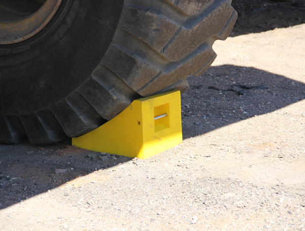 Image for URETHANE WHEEL CHOCK, 47″-70″ TIRES