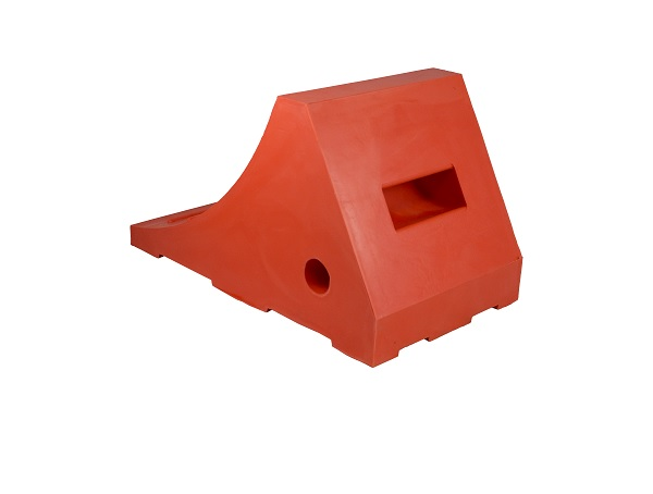 Image for URETHANE ORANGE WHEEL CHOCK, 24″-32″ TIRES