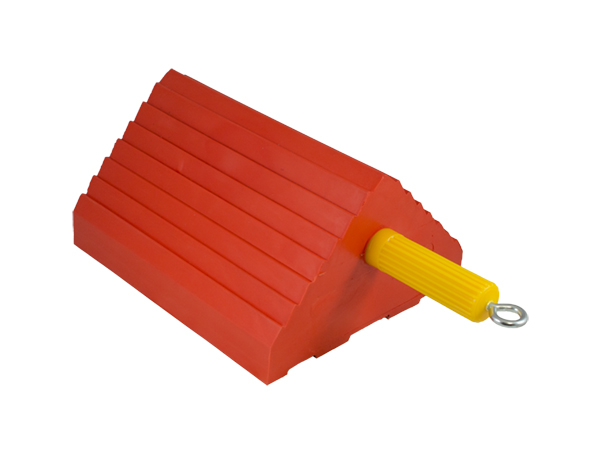 Gallery Picture 1 for ORANGE WHEEL CHOCK, TIRE SIZE 27-32″