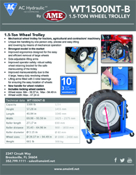 AC HYDRAULIC AG WHEEL TROLLEY, 1.5 TON FLYER PDF