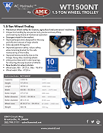 #WT1500NT - AC HYDRAULIC AG WHEEL TROLLEY, 1.5 TON - PRODUCT FLYER PDF