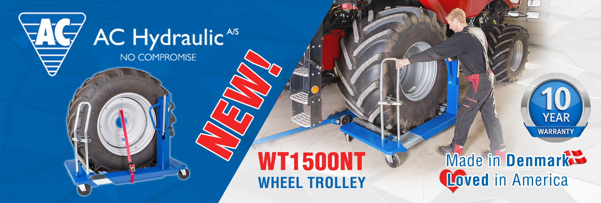 NEW AC Hydraulic WT1500NT Wheel Trolley
