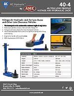 #40-4 AC HYDRAULIC 40-TON LOW PROFILE AIR HYDRAULIC JACK PRODUCT FLYER PDF